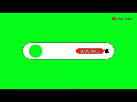 (No Copyright) Subscribe Button intro   Green Screen   Nice Techno