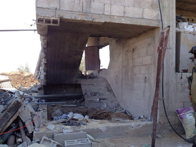 A tunnel, within a civilian home, found by Golani soldiers in the northern Gaza Strip (photo credit: IDF Spokesperson's Unit/ Flash 90)