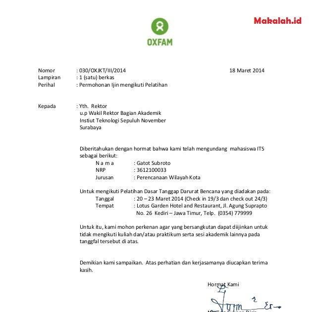 Contoh Surat Izin Untuk Anak Sd - Berbagi Contoh Surat