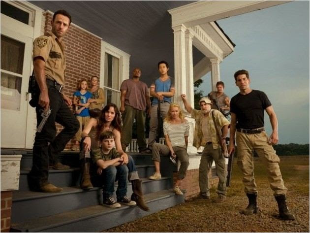 Photo Chandler Riggs, Jeffrey DeMunn, Jon Bernthal, Laurie Holden, Sarah Wayne Callies