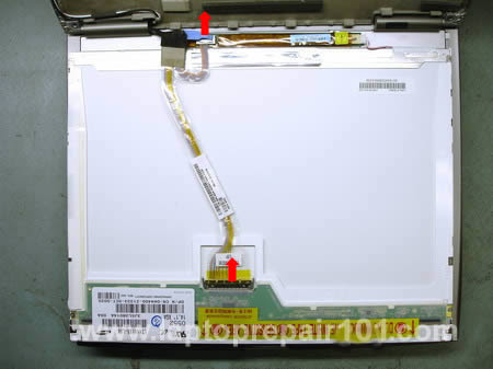 Disconnect LCD cables