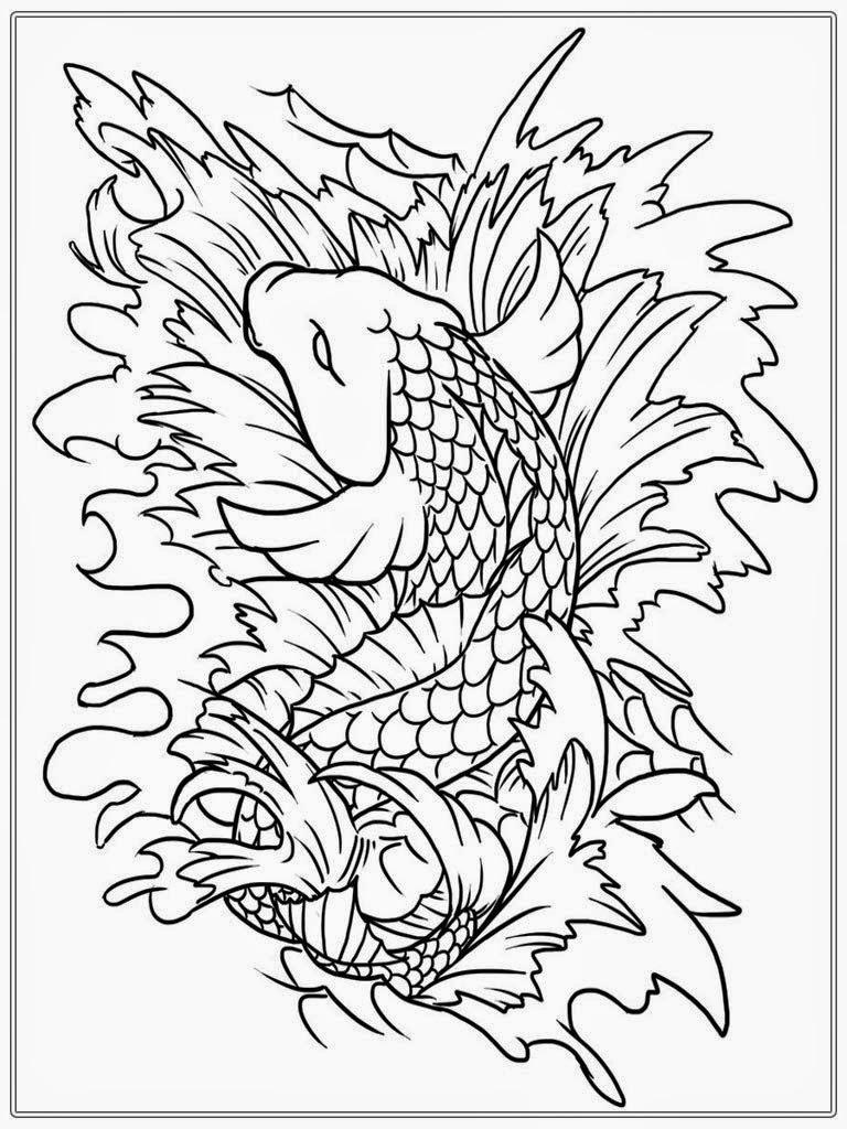 Japanese Koi Fish Drawing At Getdrawings Com Free For Personal Use