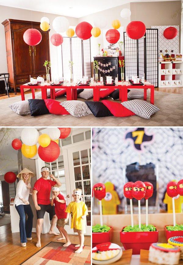 Modern Ninjago Style Ninja Birthday Party Hostess With The