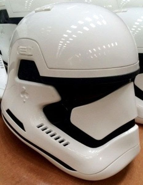 Stormtrooper helmets that are apparently from STAR WARS: EPISODE VII.