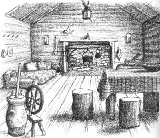 illustration fireplace
