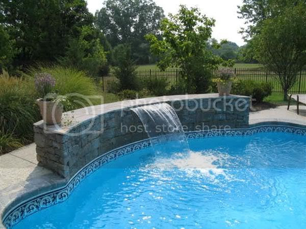 Small Swimming Pool Waterfalls Home Interior Design