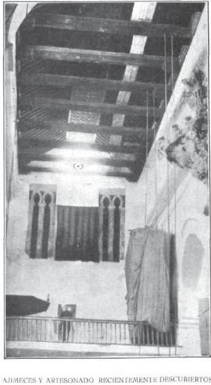 Decoración mudéjar de la Iglesia de Santiago del Arrabal descubierta en 1917. Revista la Ilustración Española y Americana