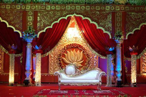 Indian Wedding Stage Mandap Stock Image   Image of event