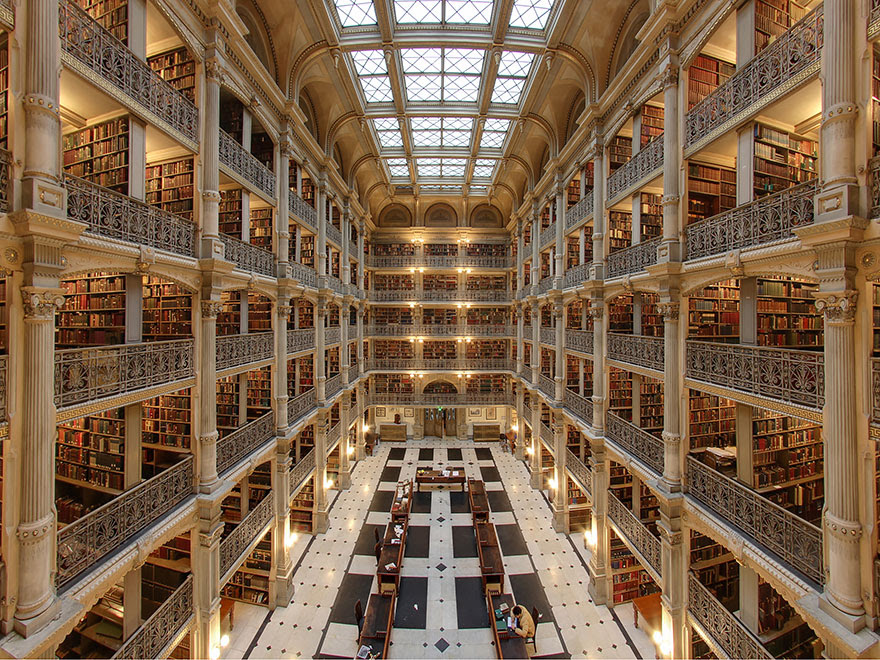 Biblioteca George Peabody, Baltimore, Maryland, Estados