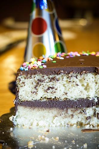River's birthday cake - cross section