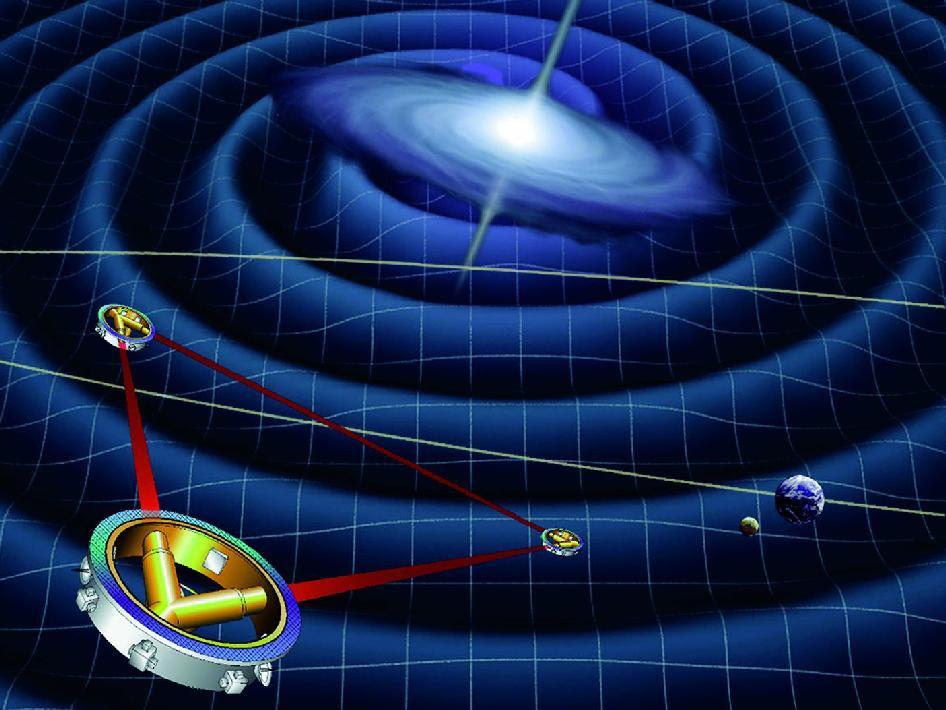 Artist concept of the LISA spacecraft