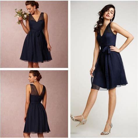 Short Bridesmaid Dresses Navy Blue Size Bridesmaids Dress