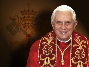 Pope Benedict XVI with Coat of Arms