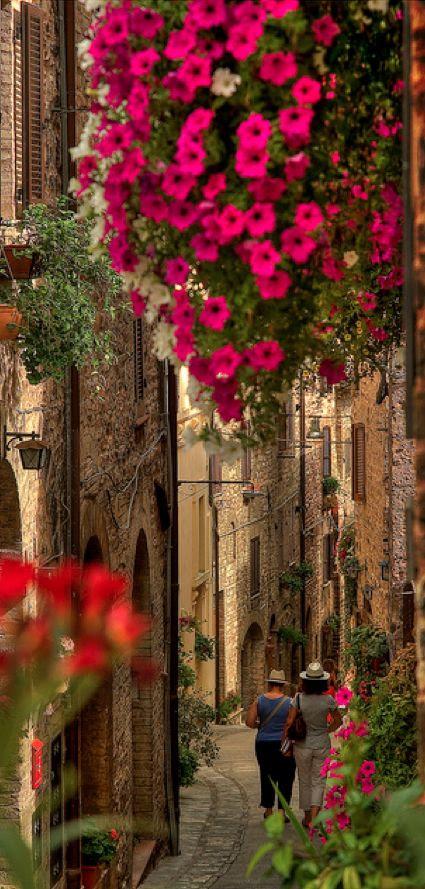 Dailymotion'da Luca Ternelli: Umbria, İtalya • fotoğraf Spello güzel sokaklarında dolaşmak