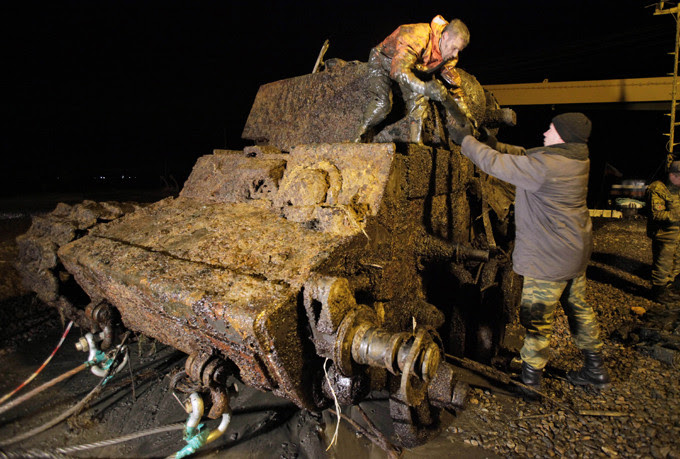 Encontrado tanque ruso de la Segunda Guerra Mundial