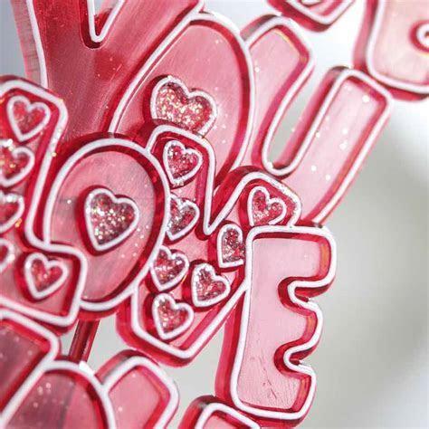 """I Love You"" Acrylic Valentine's Day Picks   Floral Sale"