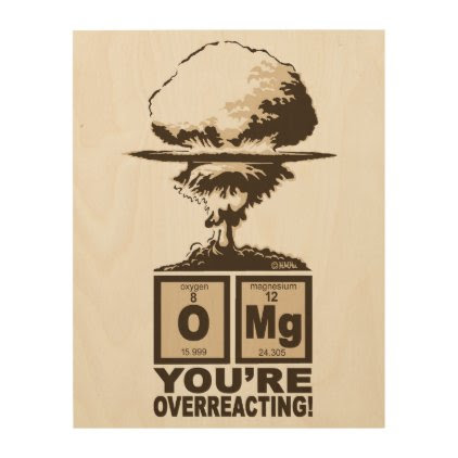 OMG! You are overreacting! Wood Wall Art