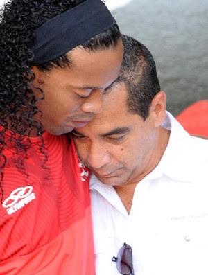 Ronaldinho Gaucho e Zinho treino Flamengo (Foto: Alexandre Vidal / Fla Imagem)