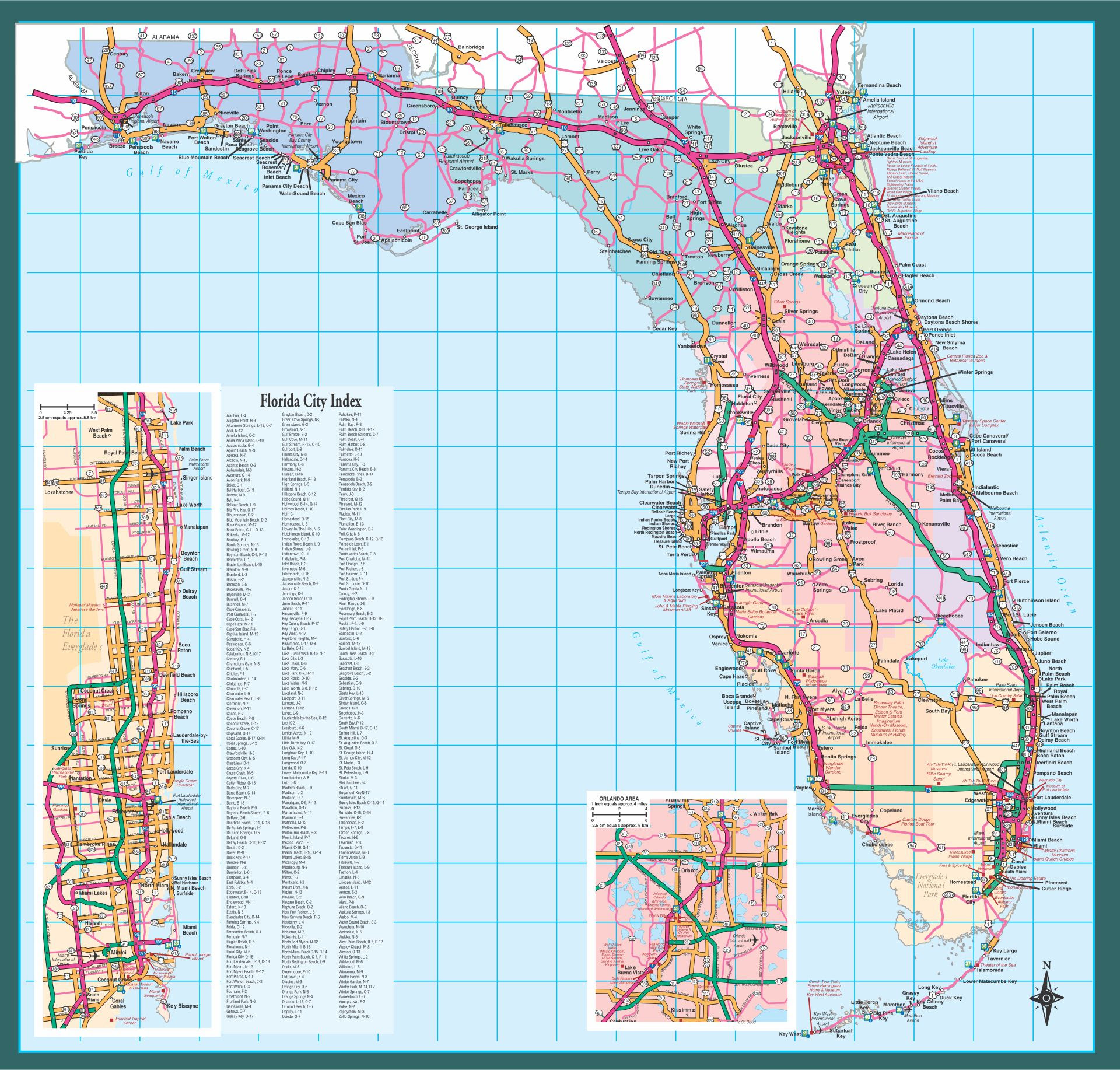 6 Best Images Of Florida State Map Printable Printable