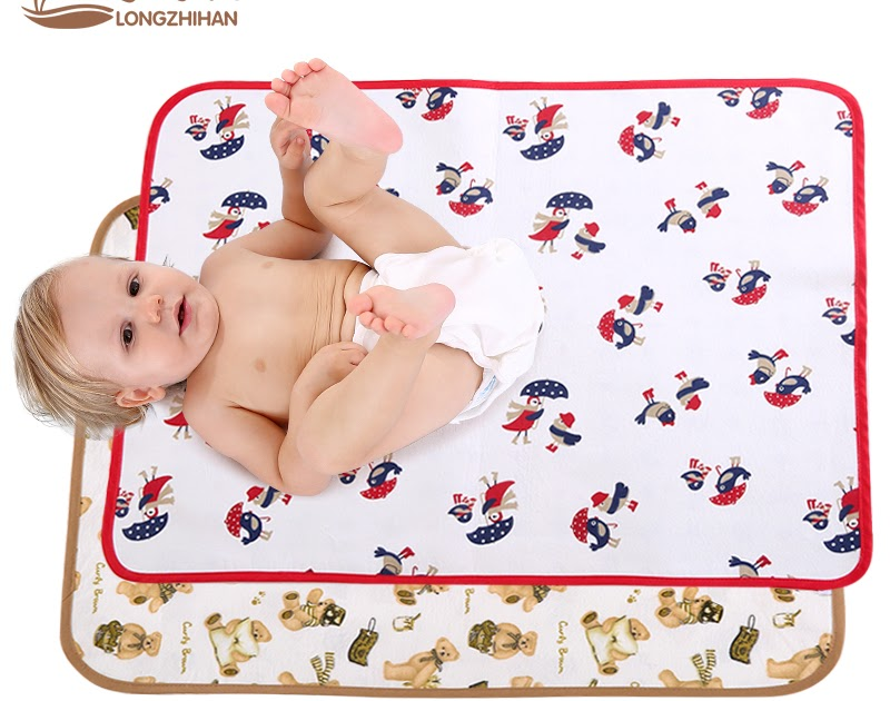 Baby Changing Pad Infant Waterproof Washable Mat Boy Girl Urine Nappy Mat KI