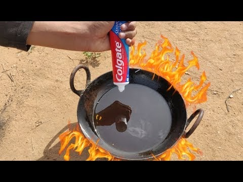 Boiling Colgate in Hot Oil