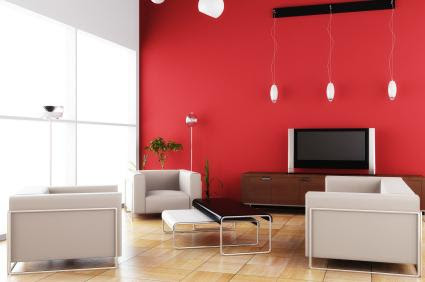 Red Accent Wall - Red, yellow & orange themes