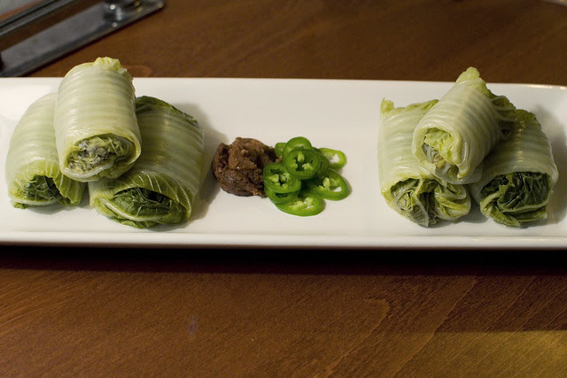 Korean cabbage wraps