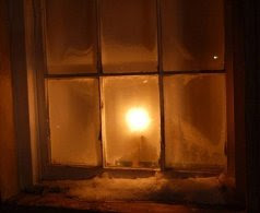 Candle in window 2