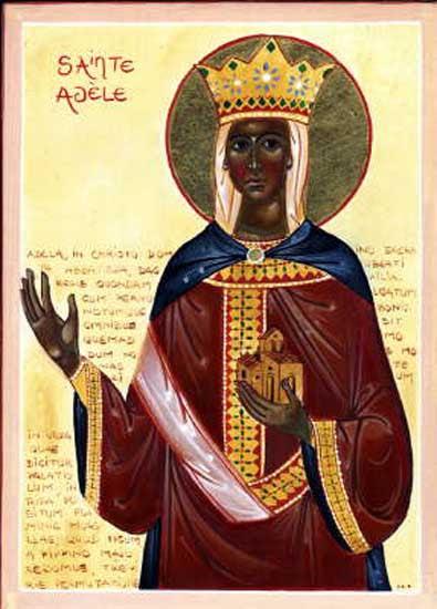 ST. ADELA, Daughter of Dagobert II, King of the Franks