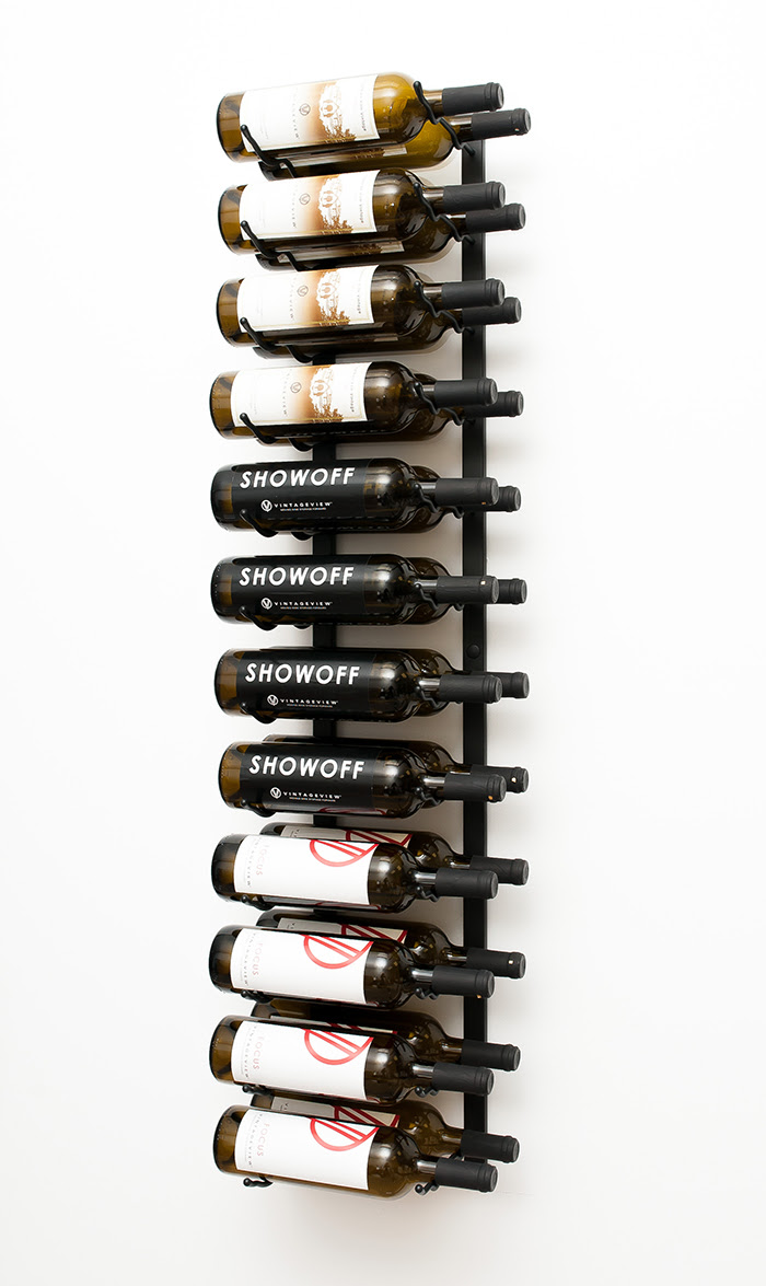 4 Ft Wall Series Metal Wine Rack 12 To 36 Bottles
