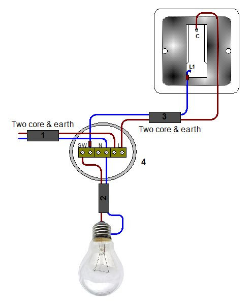 4 Gang 1 Way Switch Wiring Diagram