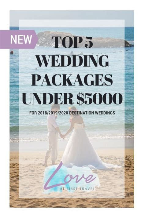 Weddings under $5000 // Budget Destination Wedding