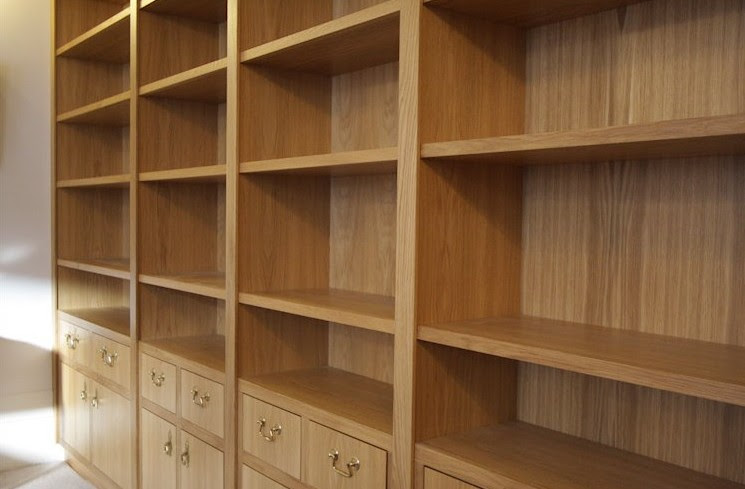 librerie in rovere su misura Lugano