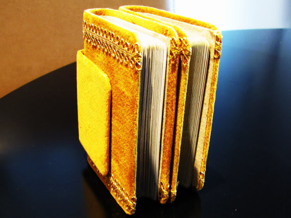Velvet Book Shaped Playing Card Case Inside
