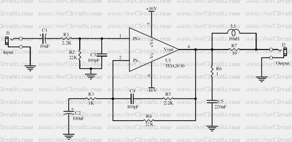 tda2030a bridge amplifier circuit