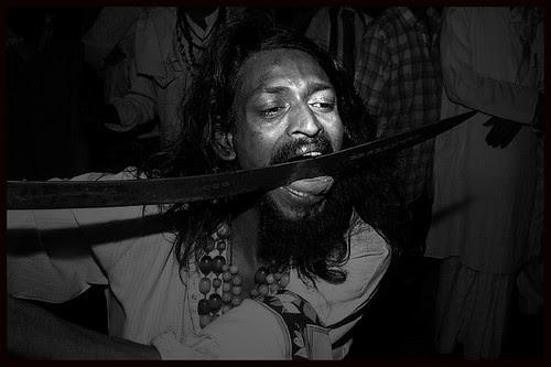 Faiyaz Ali Baba Rafaee - Tongue Cutting With Sword by firoze shakir photographerno1