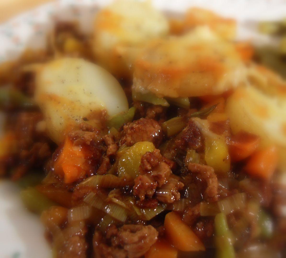 Cottage Pie with Potato Cobbles