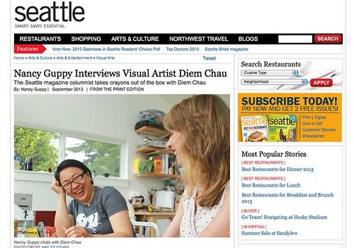 Interview w/ Nancy Guppy for Seattle Magazine!