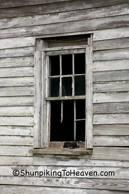 Window of Abandoned House, Greene County, North Carolina