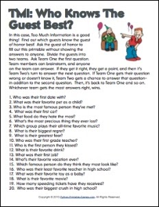 40th Birthday Ideas 40th Birthday Questionnaire Ideas