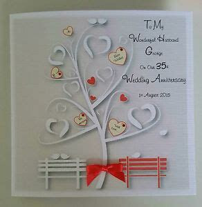 Personalised On Our 35TH CORAL Wedding Anniversary Card