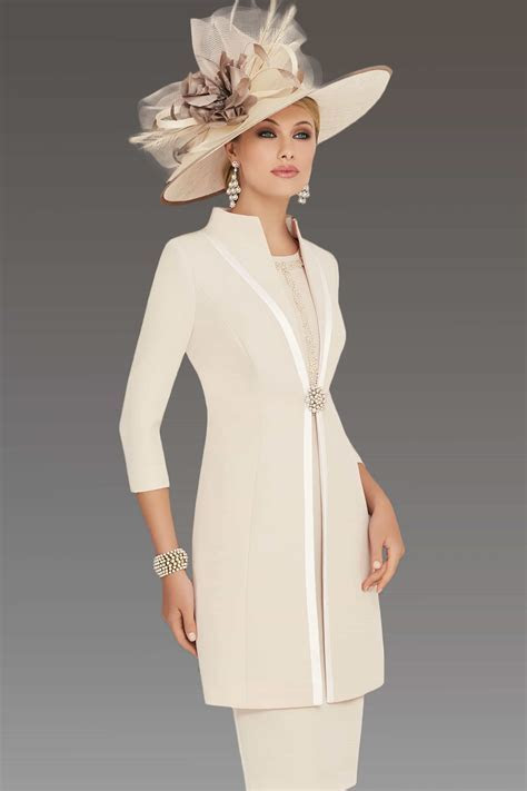 Short fitted dress with matching coat 008697   Catherines