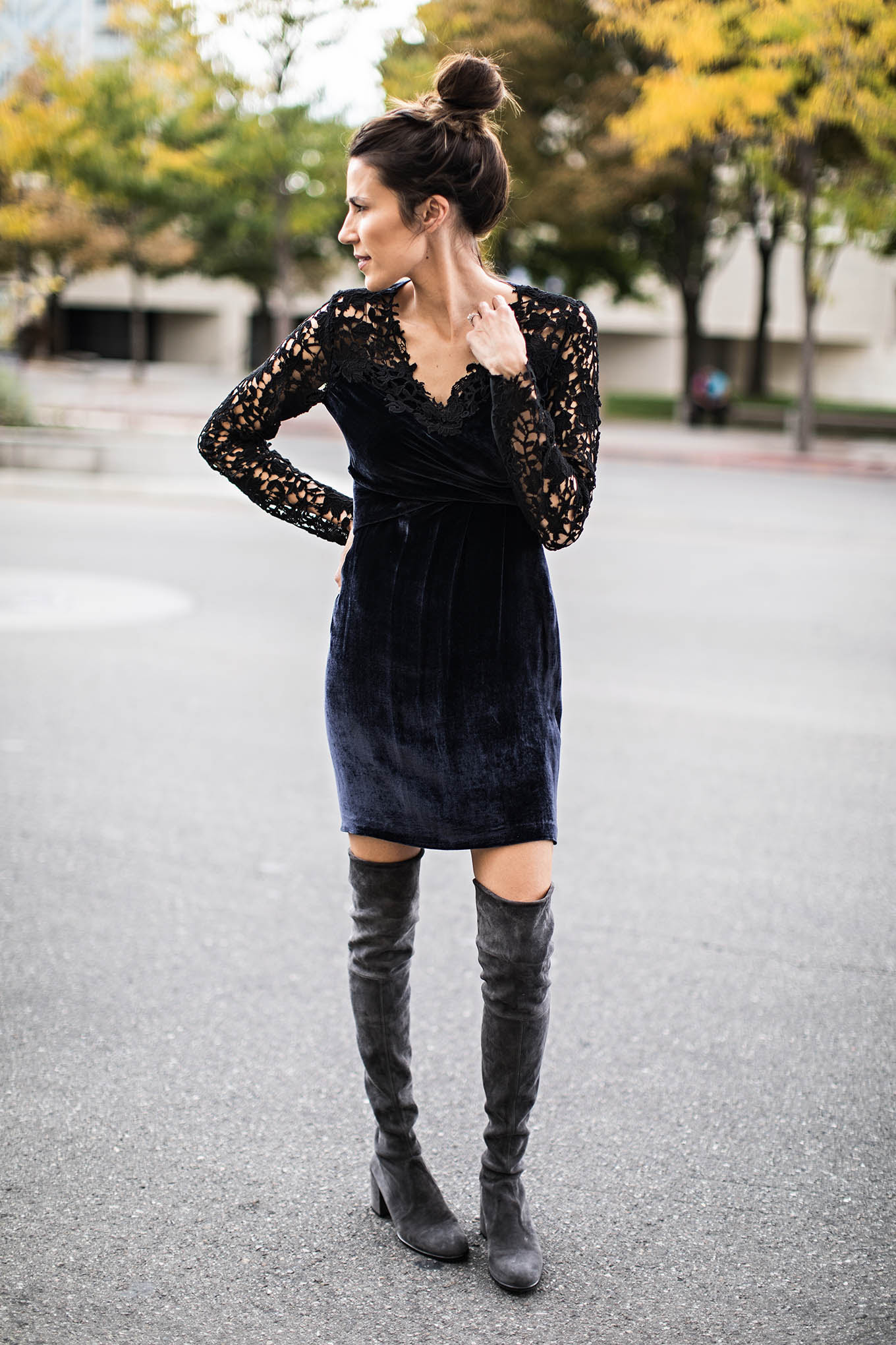 Rotorua bodycon dress knee high boots and shorts outfit usa hoodies