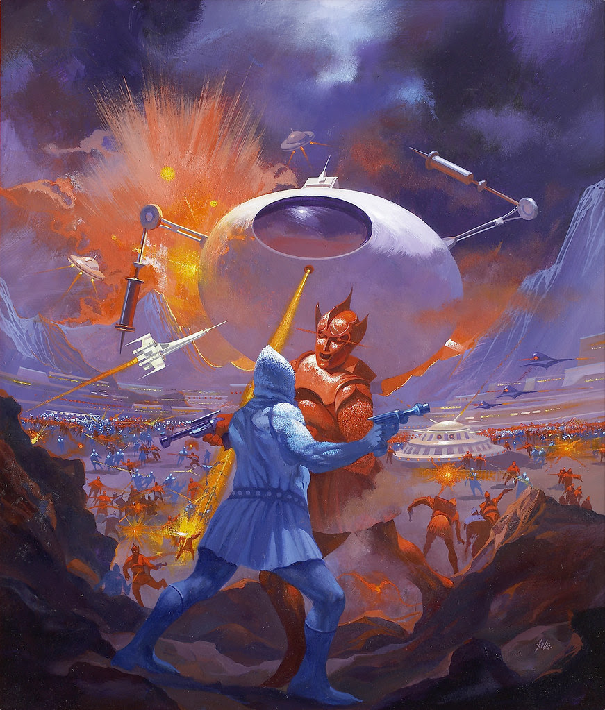 Paul Lehr - Starship Warriors, paperback cover, 1984