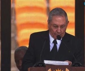 Raúl durante el discurso. Foto: Tomada de la TV vía web.