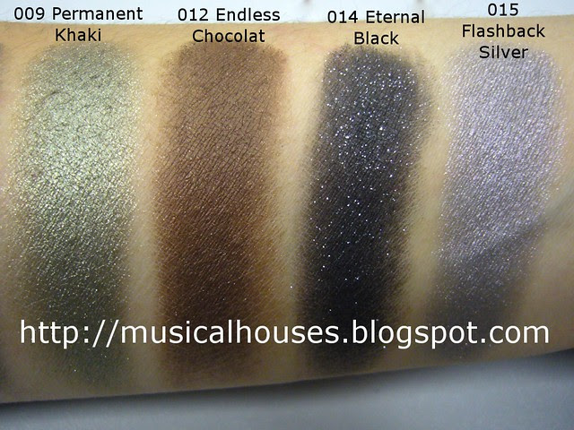loreal infallible eyeshadow swatches 2