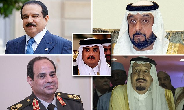 Image result for gulf nations that have cut diplomatic ties with qatar