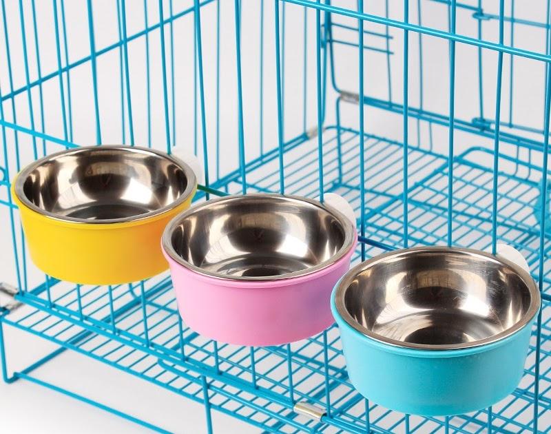 Buy PP Stainless Steel Inner Dog Water Bowl Small Feeder