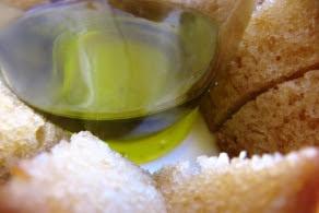 El aceite de oliva virgen extra ingrediente principal del bizcocho