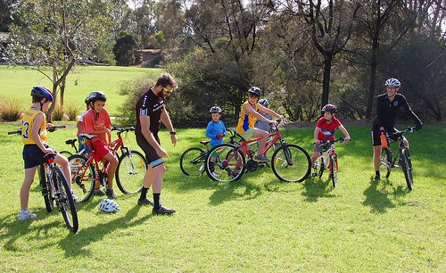 Duggan leads a kids skills session